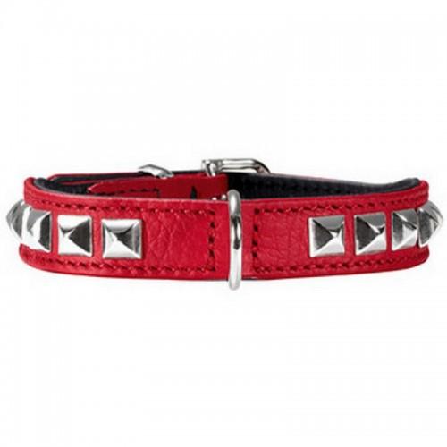 Rocky petit - Ошейник для собак из натуральной кожи, красный