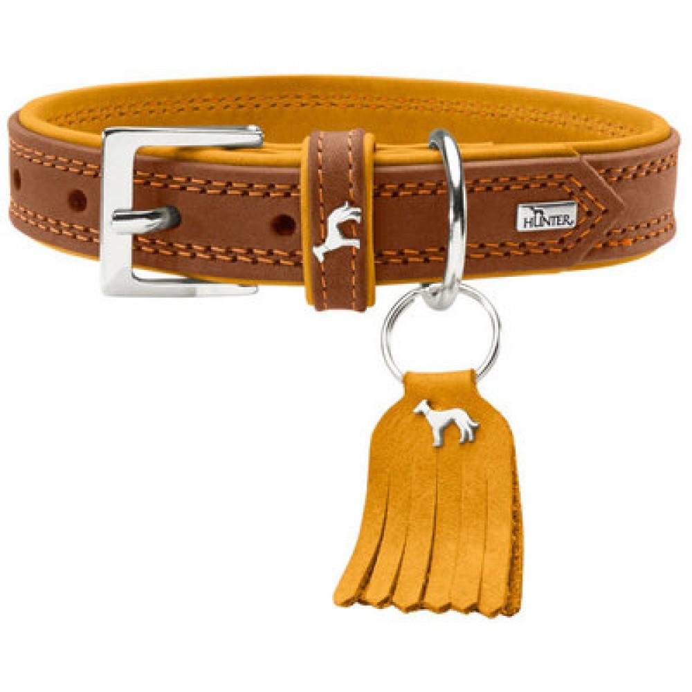 Hunter Lucca Petit - Ошейник для собак из натуральной кожи, коричневый
