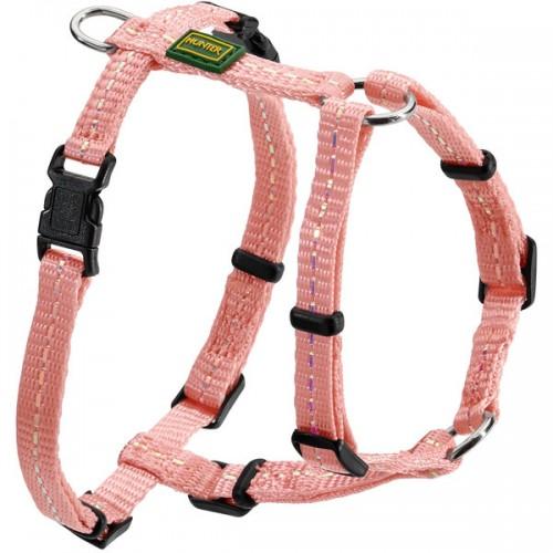 Tripoli - Шлейка для собак, нейлон светло-розовый, светоотражающая