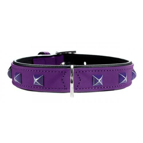 Softie Kario - Ошейник для собак кожзам, фиолетовый/черный