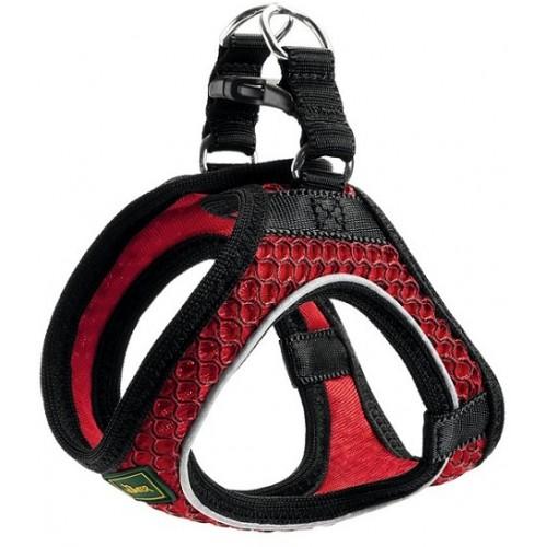 Hilo Comfort - Шлейка для собак, сетчатый текстиль, красная