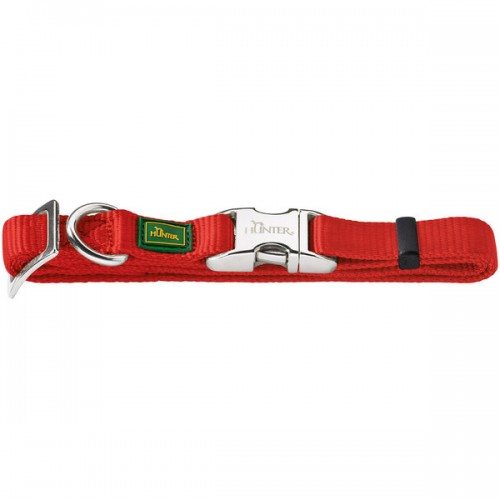 ALU-Strong - Ошейник для собак нейлоновый с металлической застежкой, красный