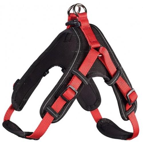 Neopren Vario Quick - Шлейка для собак красно-черная, нейлон/неопрен