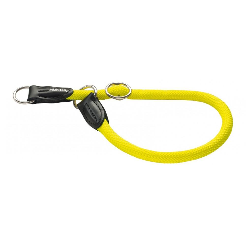 Hunter Freestyle Neon - Ошейник-удавка для собак, нейлон, желтый неон