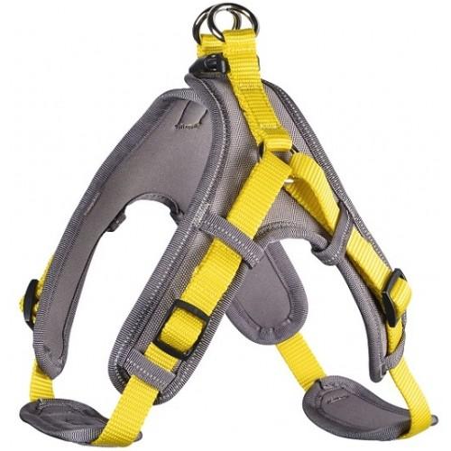 Neopren Vario Quick - Шлейка для собак желто-бежевая, нейлон/неопрен