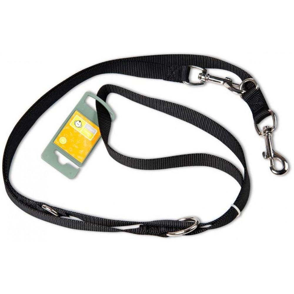Hunter Ecco Smart - Поводок-перестежка, нейлон черный