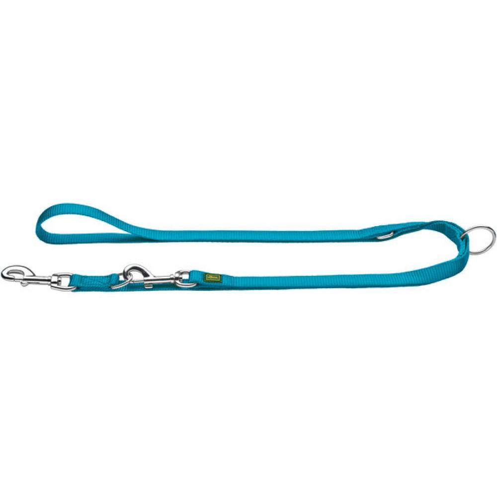 Hunter Поводок-перестежка для собак, нейлон бирюзовый