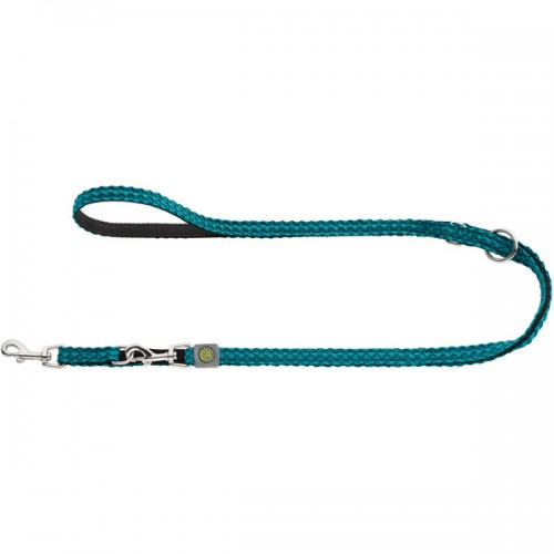 Hilo - Поводок-перестежка для собак, нейлон бирюзовый