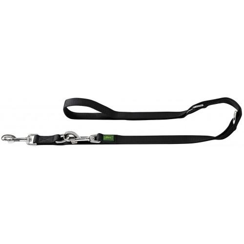 Extra Long - Поводок-перестежка для собак, нейлон черный