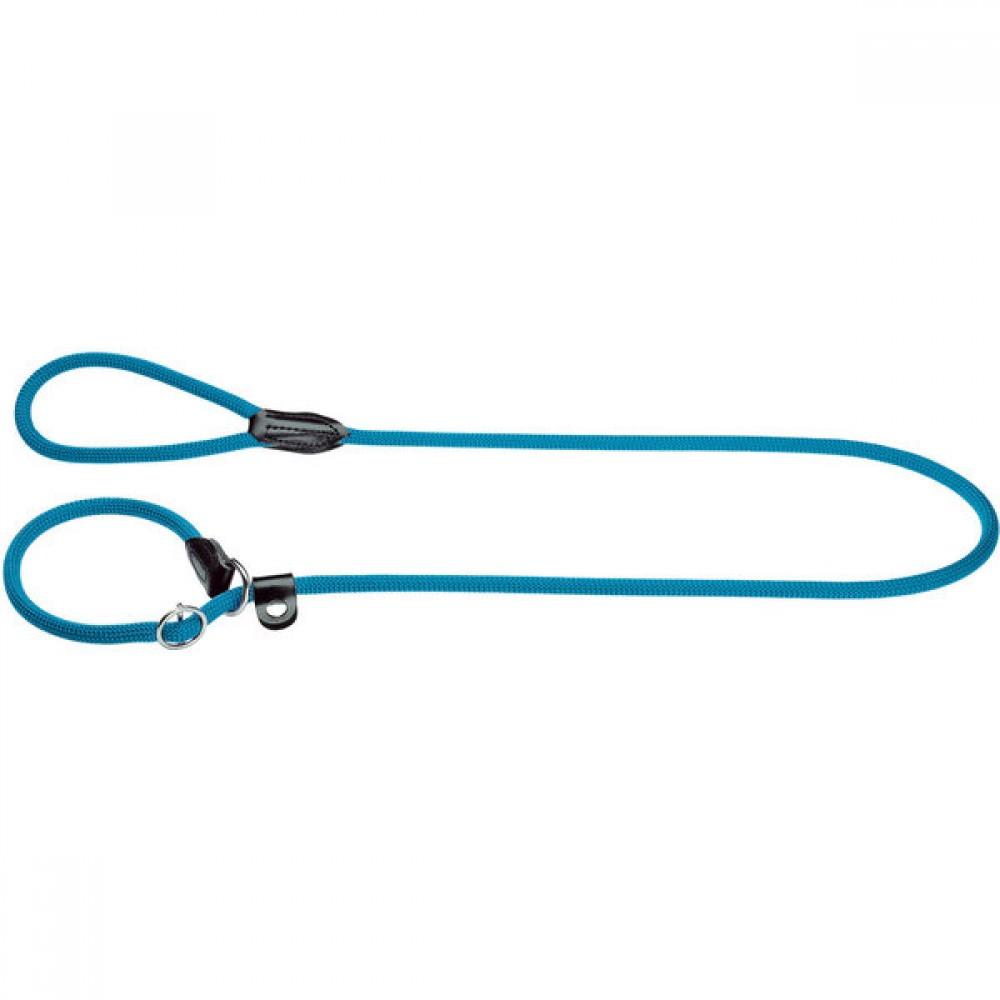 Hunter Freestyle - Поводок для собак круглый, нейлон голубой