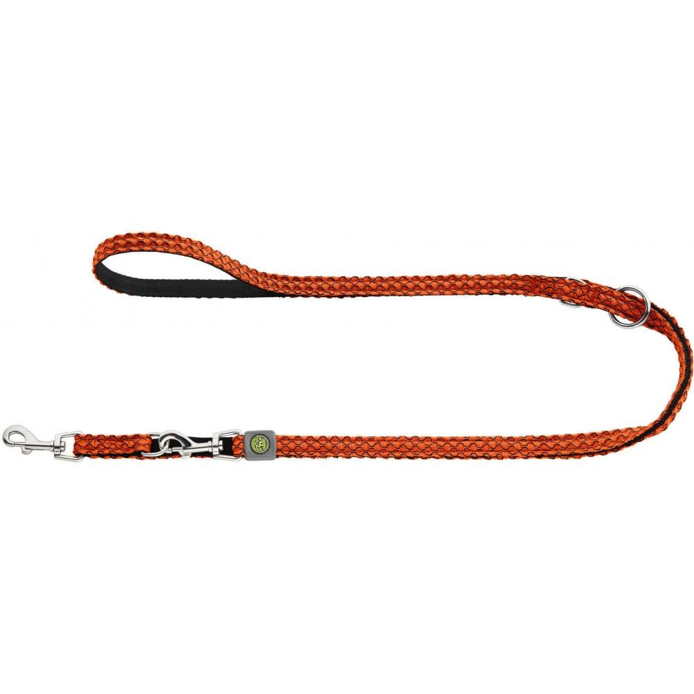Hunter Hilo - Поводок-перестежка для собак, нейлон оранжевый