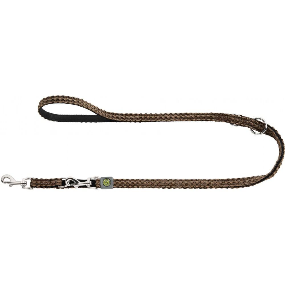 Hunter Hilo - Поводок-перестежка для собак, нейлон коричневый