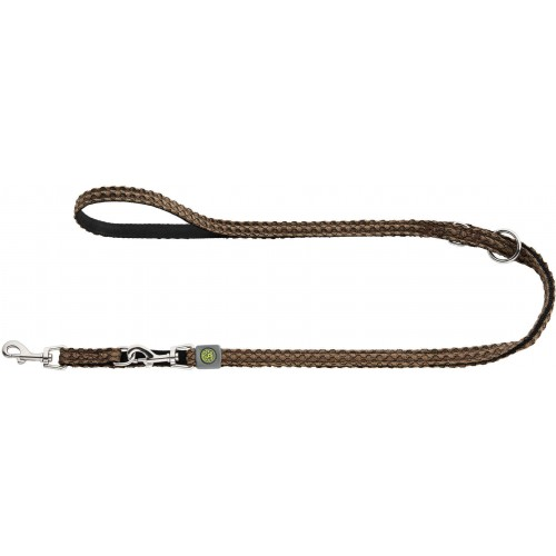 Hilo - Поводок-перестежка для собак, нейлон коричневый