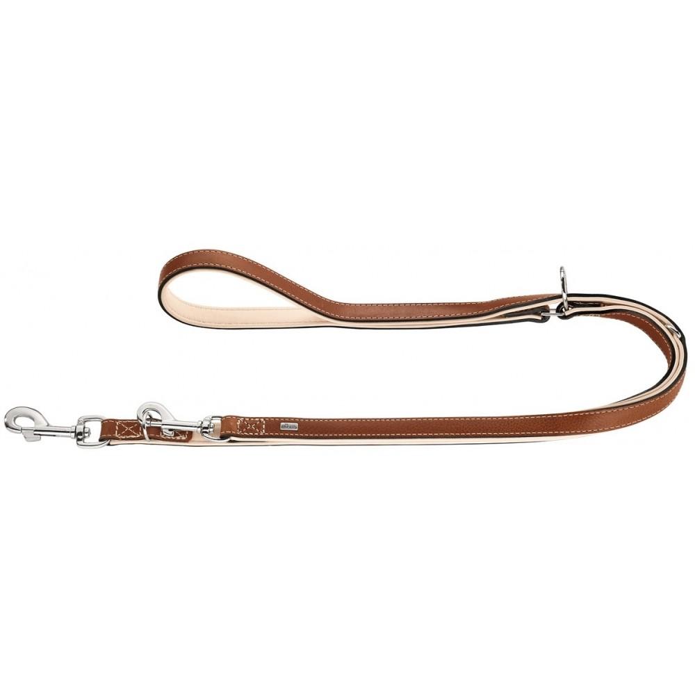 Hunter Virginia - Поводок-перестежка для собак из натуральной кожи, светло-коричневый