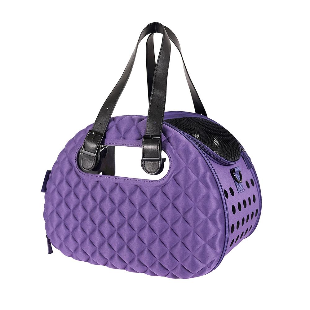 Ibiyaya Diamond Deluxe - Складная сумка-переноска для собак и кошек фиолетовая