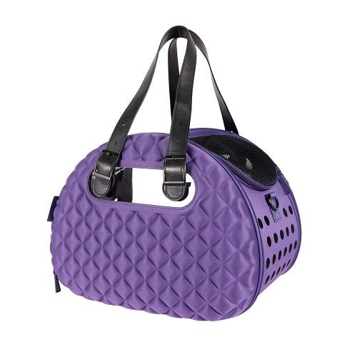 Diamond Deluxe - Складная сумка-переноска для собак и кошек фиолетовая