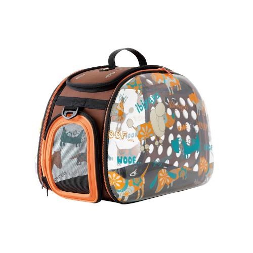 Dogs&Cats Transparent - Складная сумка-переноска для собак и кошек прозрачная/дизайн Cats&Dogs