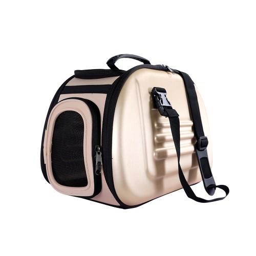 Classic - Складная сумка-переноска для собак и кошек бежевая