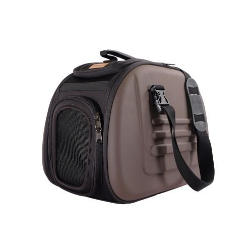 Classic - Складная сумка-переноска для собак и кошек коричневая