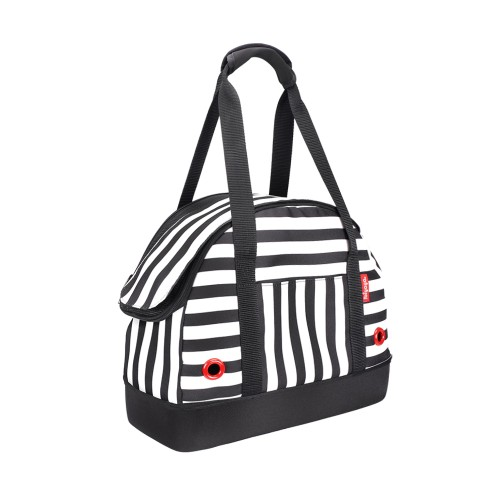"""""""Hop in!"""" Audrey Monostripe - Мягкая сумка-переноска для собак, черно-белая полоска"""