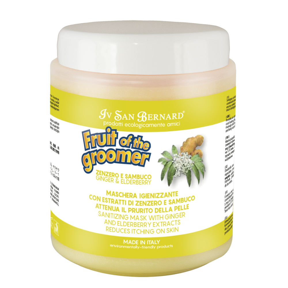 Iv San Bernard Fruit of the Grommer Ginger&Elderbery - Восстанавливающая маска с противовоспалительным эффектом