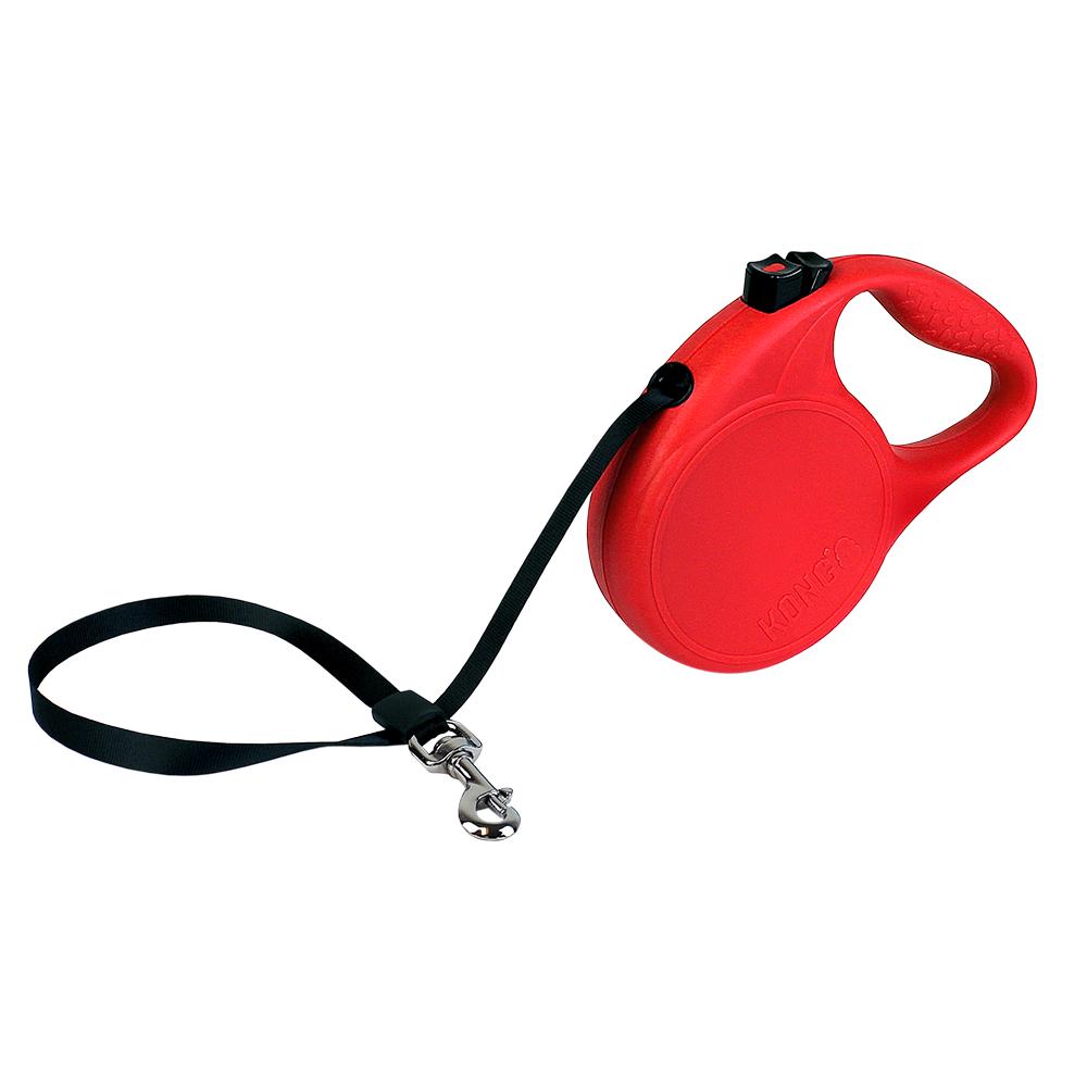 KONG Trail M - Поводок-рулетка для собак до 30 кг, лента 5 метров
