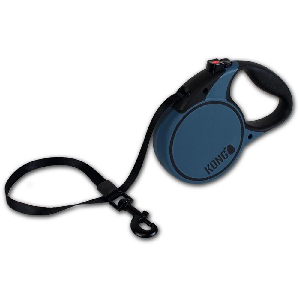 KONG Terrain XS - Поводок-рулетка для собак до 12 кг, лента 3 метра