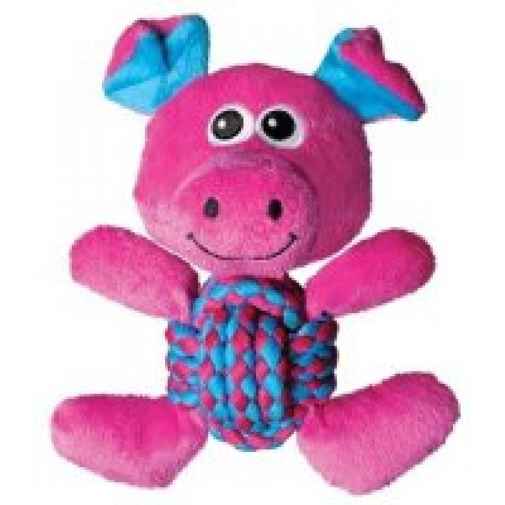 KONG Weave Knots - Игрушка для собак Свинка средняя