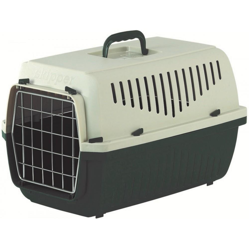 Marchioro SKIPPER - Переноска для кошек и собак с металлической дверцей, зелено-бежевая