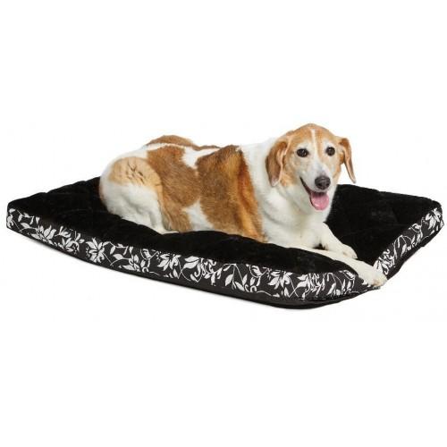 Sofia - Лежанка для кошек и собак в клетку, плюш черная