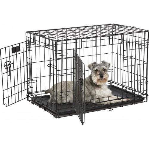 iCrate - Клетка для животных 2 двери, черная