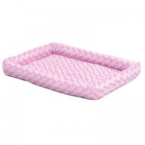 Fashion - Лежанка для кошек и собак плюшевая, розовая