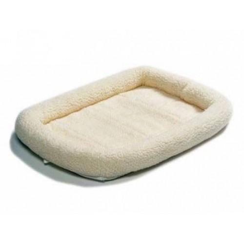 Pet Bed - Лежанка для кошек и собак флисовая, белая