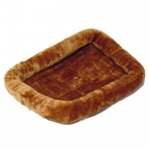 Pet Bed - Лежанка для кошек и собак меховая, коричневая