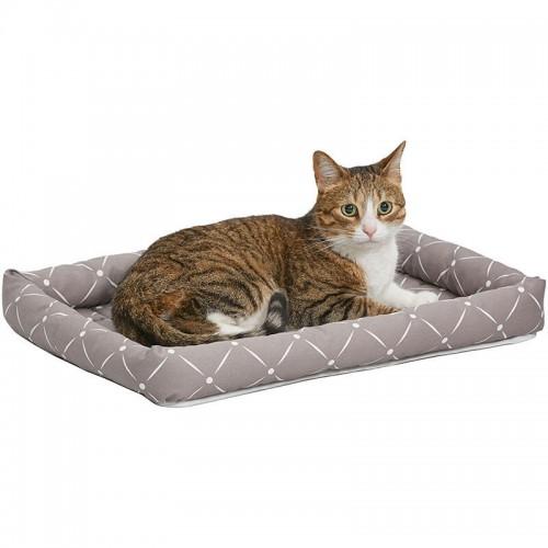 Ashton - Лежанка для кошек и собак серо-коричневая
