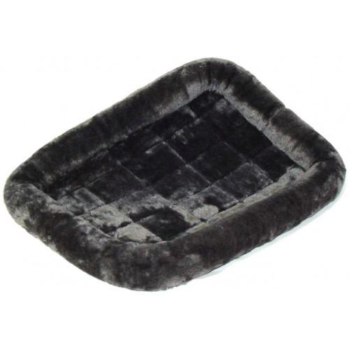 Pet Bed - Лежанка для кошек и собак меховая, серая