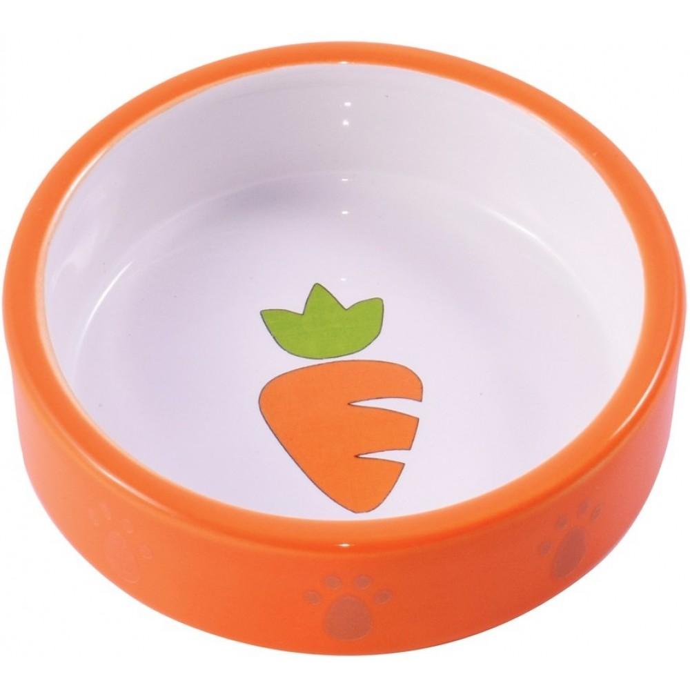 КерамикАрт Миска керамическая для грызунов с морковью, 70 мл