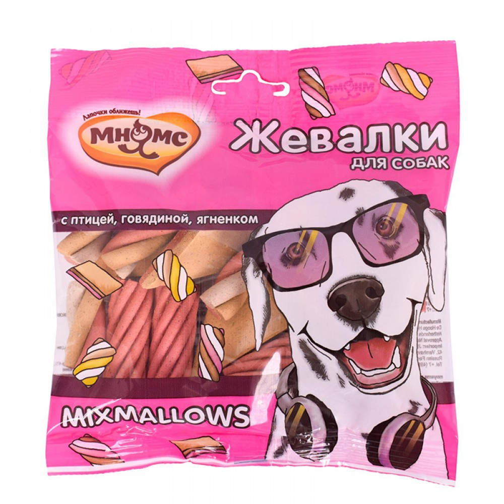 """Мнямс Лакомство для собак - """"Жевалки MIXMALLOWS"""" с птицей, говядиной и ягненком"""