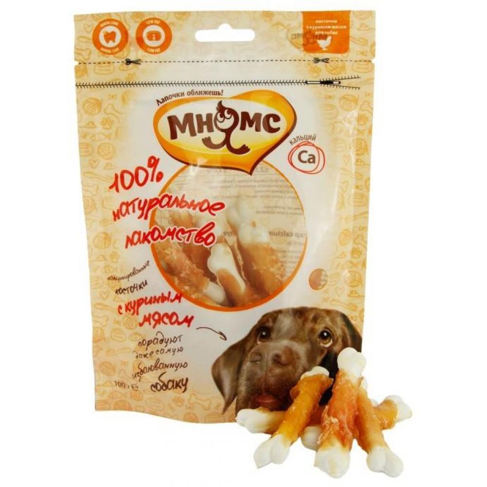Мнямс Лакомство для собак - Кальцинированные косточки с куриным мясом