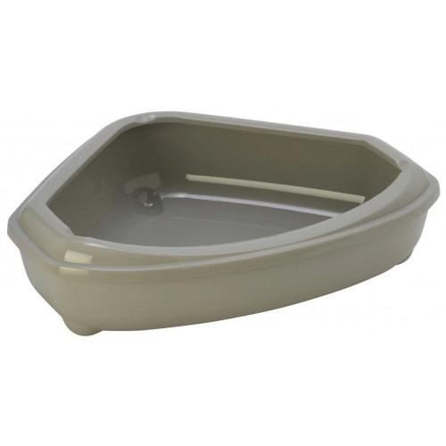 Corner Tray - Туалет-лоток угловой для кошек со съемным ободком