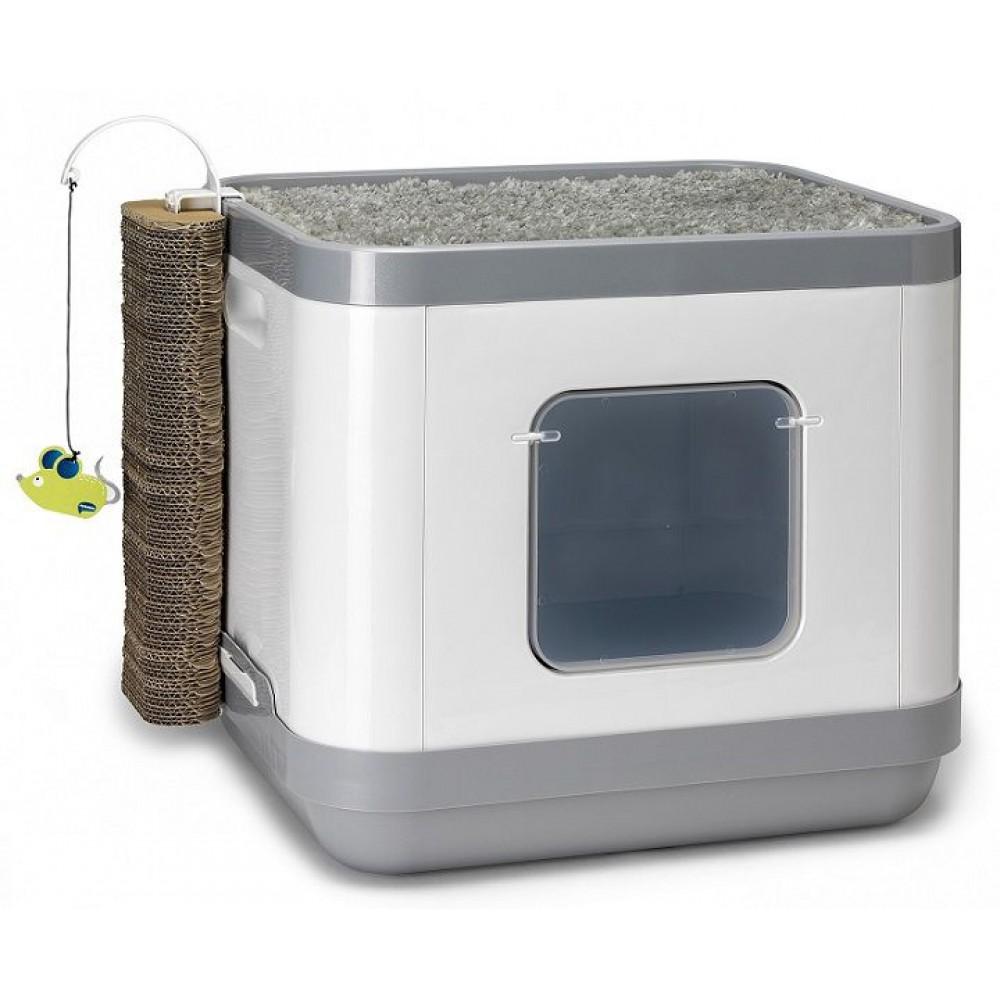 Moderna Cat Concept 4 в 1 - Большой набор: туалет, лежанка, дразнилка, когтеточка