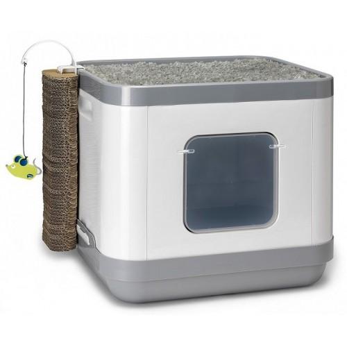 Cat Concept 4 в 1 - Большой набор: туалет, лежанка, дразнилка, когтеточка