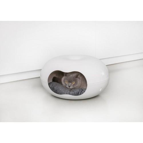 Doonut - Лежанка-домик для кошек с подушкой белая