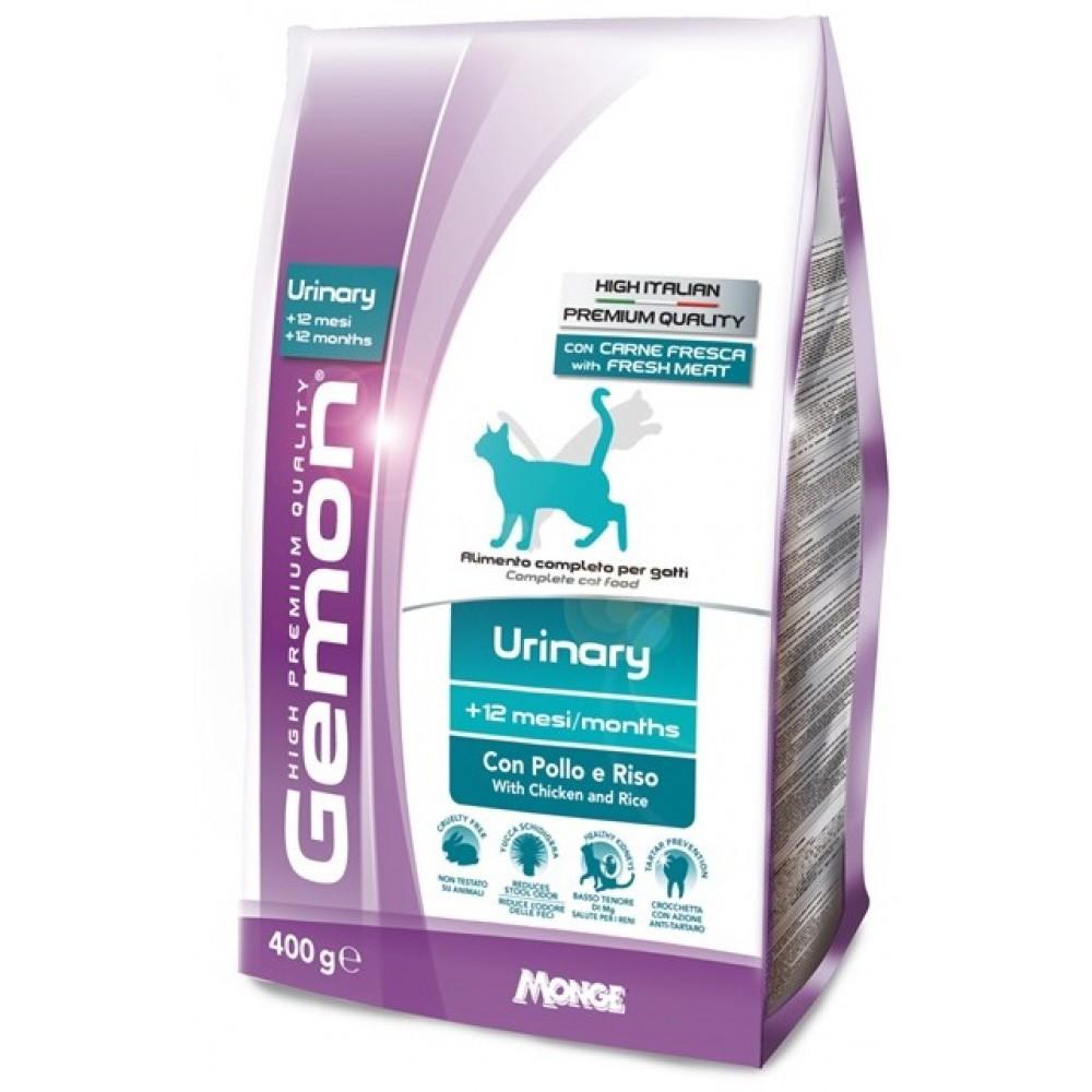 Monge Gemon Cat Urinary - Корм для профилактики мочекаменной болезни для взрослых кошек с курицей и рисом