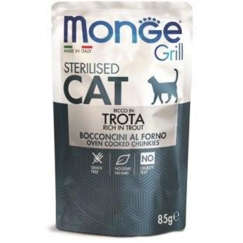 Monge Cat Grill Pouch - Паучи для стерилизованных кошек с итальянской форелью