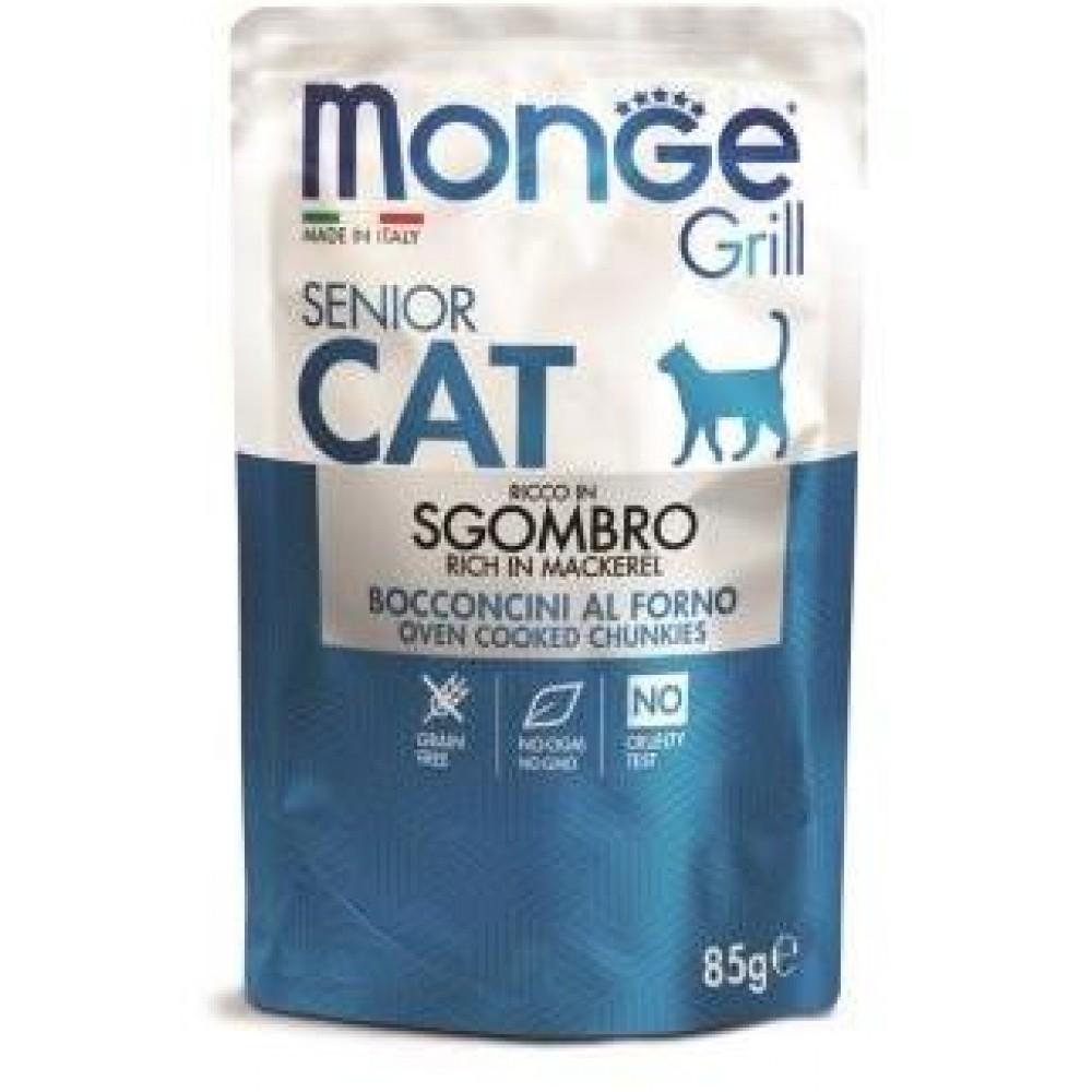 Monge Cat Grill Pouch - Паучи для пожилых кошек с эквадорской макрелью