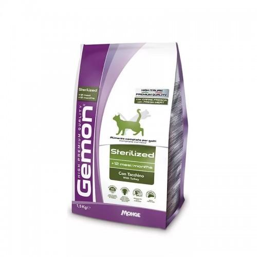 Gemon Cat Sterilised - Корм для стерилизованных кошек с индейкой