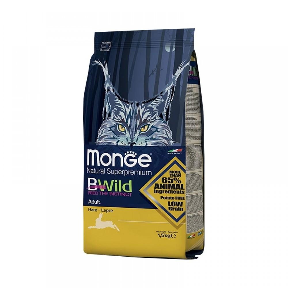 Monge PFB Cat BWild LOW GRAIN - Низкозерновой корм из мяса зайца для взрослых кошек