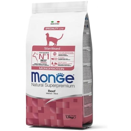 MONGE CAT STERILIZ MANZO (BEEF) 1,5 кг