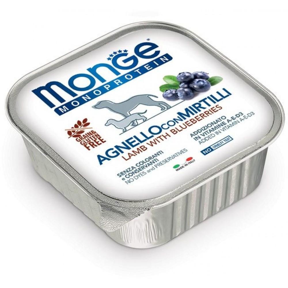 Monge Dog Monoprotein Fruits - Консервы для собак паштет из ягненка с черникой